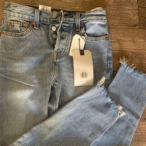 Levis 501 wedgie jeans
